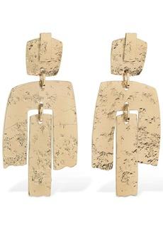 Max Mara Origano Trio Embossed Clip-on Earrings