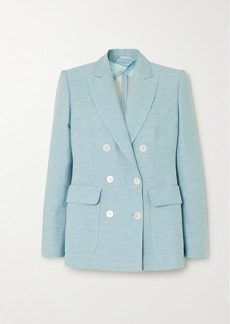 Max Mara Ottuso Double-breasted Linen And Silk-blend Blazer