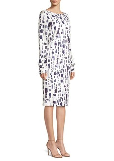 Max Mara Pietre Jersey Abstract Dot Dress