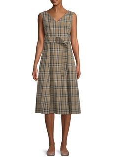 Max Mara Plaid A-Line Dress