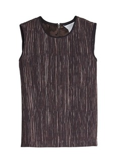 Max Mara Pleated Crepe Sleeveless Top