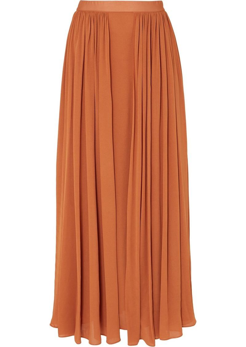 Max Mara Pleated Jersey Maxi Skirt