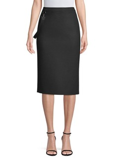 Max Mara Polder Virgin Wool Pencil Skirt