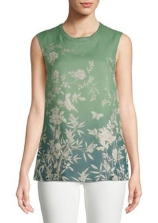 Max Mara Ponera Floral Sleeveless Top