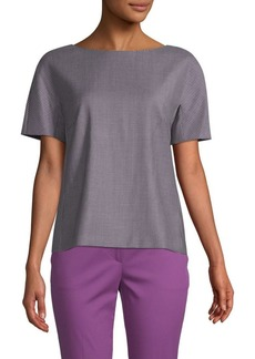 Max Mara Printed Short-Sleeve Top