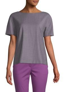 Max Mara Printed Short-Sleeve Top