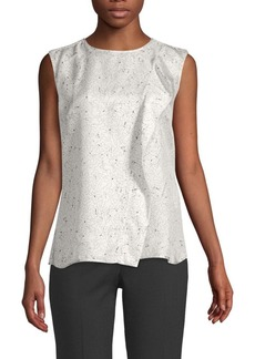 Max Mara Printed Sleeveless Silk Top