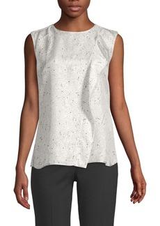 Max Mara Printed Sleeveless Silk Top