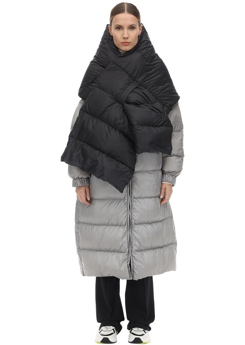 Max Mara Quilted Down Scarf