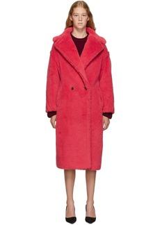 Max Mara Red Alpaca Double Breasted Tedgirl Coat