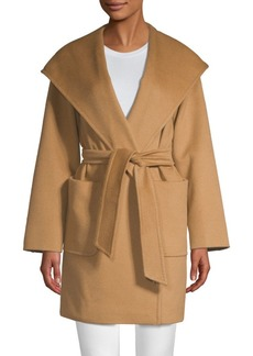 Max Mara Rialto Hooded Wool Wrap Jacket