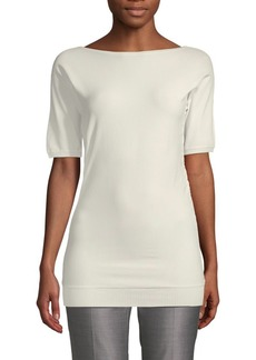 Max Mara Rib-Trimmed Boatneck Top