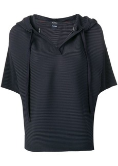 Max Mara ribbed half sleeve hooded top