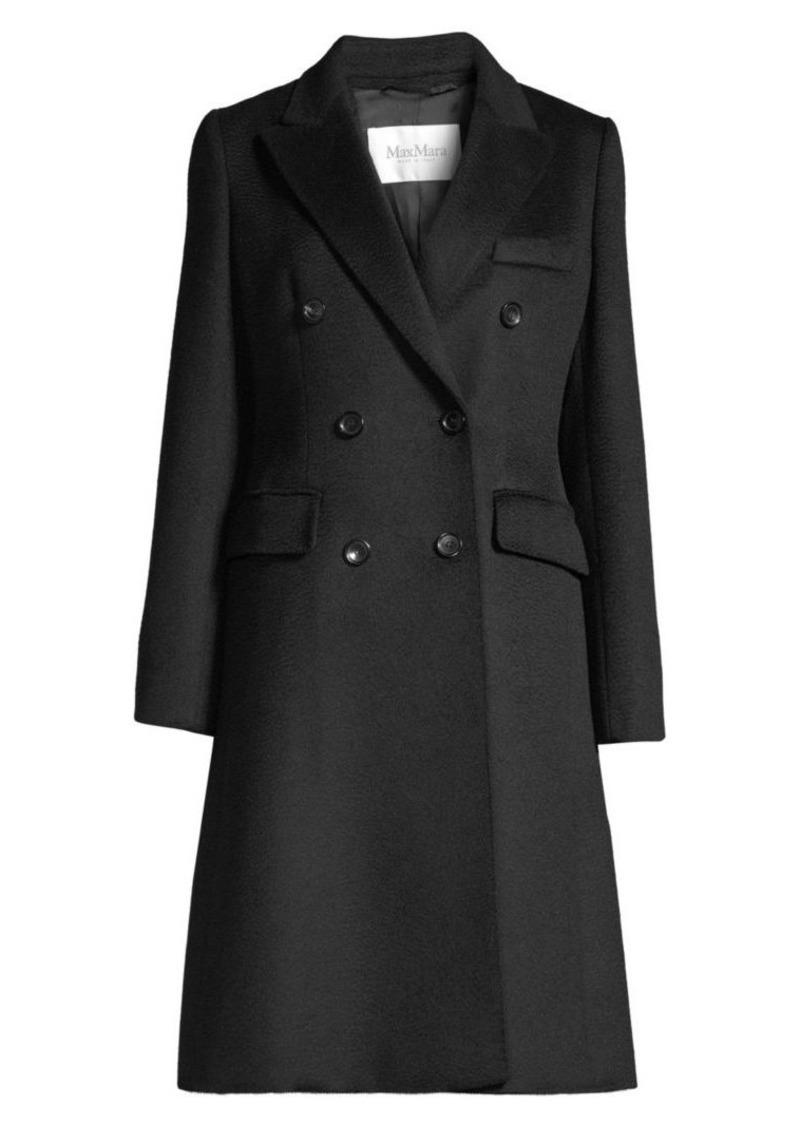 Max Mara Rigel Tailored Camel Wool A-Line Coat