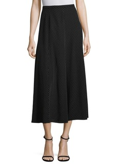 Max Mara Ruggero Silk Polk Dot Midi Skirt