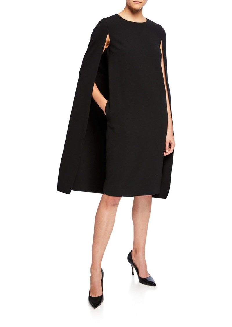 Max Mara Sansone Cape-Back Dress