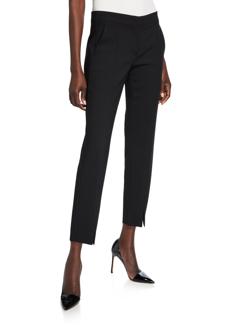 Max Mara Sassari Straight-Leg Cropped Pants  Black
