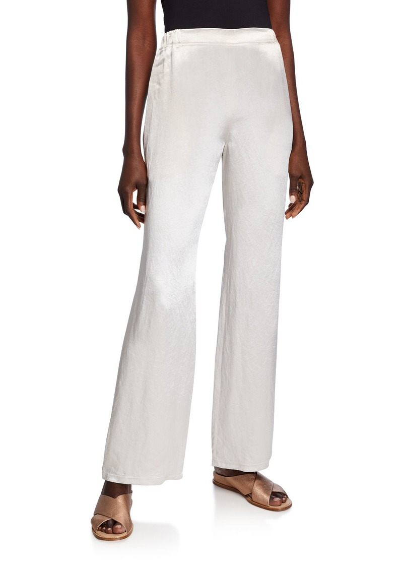 Max Mara Satin Full-Leg Pants
