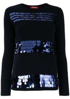 Max Mara sequin embellished jumper