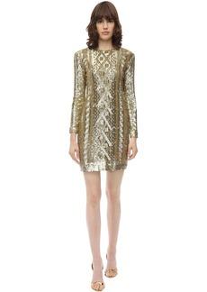 Max Mara Sequined Techno Jersey Dress
