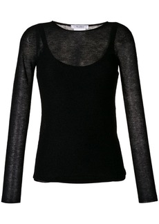 Max Mara sheer knit top