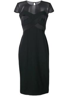 Max Mara sheer panel dress