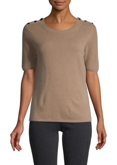 Max Mara Short-Sleeves Cashmere Sweater