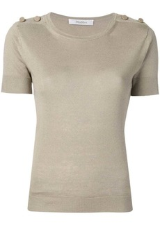 Max Mara shoulder button knitted top