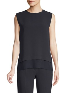 Max Mara Sibari Chiffon Side Sleeveless Top