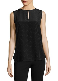 Max Mara Silk Polka Dot Sleeveless Blouse