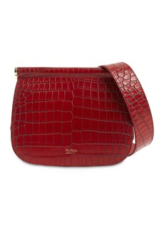 Max Mara Silvia2 Croc Embossed Leather Bag