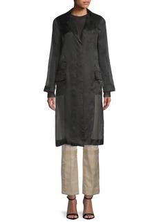 Max Mara Sorago Organza Silk Duster Coat