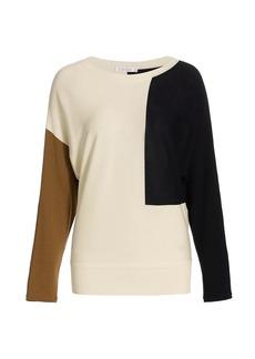 Max Mara Taiga Colorblock Wool Sweater
