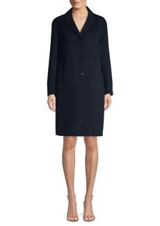 Max Mara Tcube Wool & Angora Notch Collar Coat