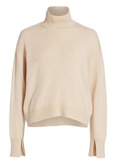 Max Mara Tecnico Wool & Cashmere Chunky Turtleneck Sweater