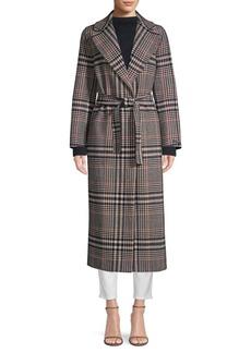 Max Mara Tenna Plaid Wrap Coat