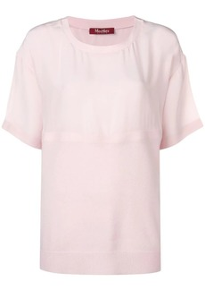 Max Mara Terzo semi-sheer top