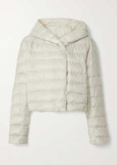 Max Mara The Cube Cropped Hooded Quilted Shell Down Jacket