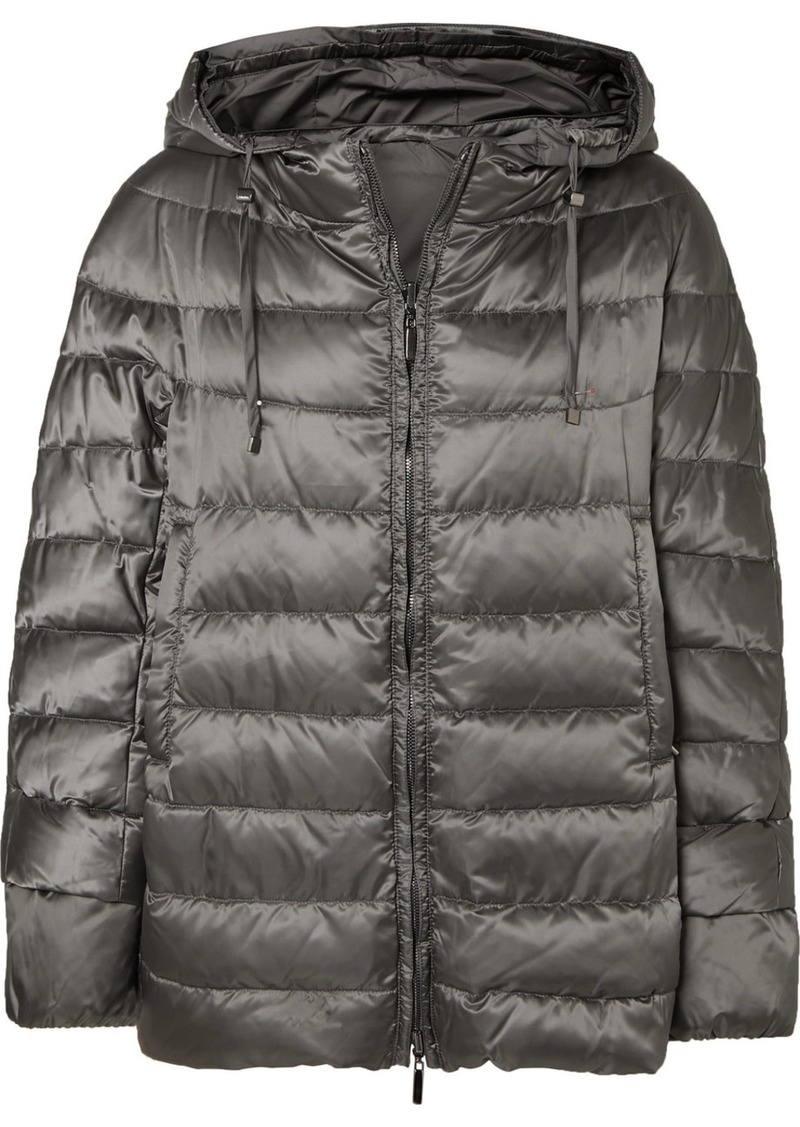 Max Mara The Cube Hooded Quilted Shell Down Coat
