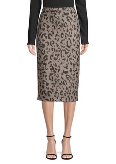 Max Mara Thomas Leopard-Print Pencil Skirt