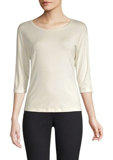 Max Mara Three-Quarter Sleeve Boatneck Tee