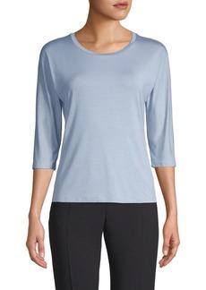 Max Mara Three-Quarter Sleeve Jersey Top
