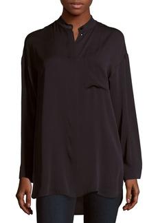 Max Mara Tilde Solid Silk Shirt