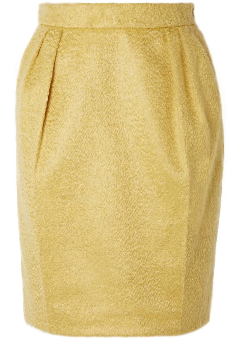 Max Mara Turchia Gathered Mohair-blend Mini Skirt