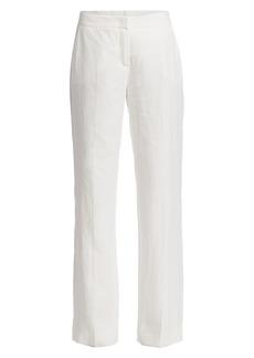 Max Mara Urlo Full-Leg Linen Pants