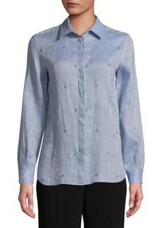 Max Mara Vallet Embellished Linen Shirt