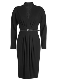 Max Mara Virgin Wool Dress with Leather Belt