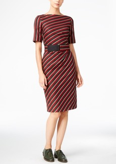 Weekend Max Mara Belted Striped Dress