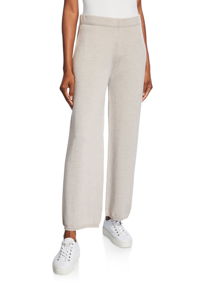 Max Mara Wool Full-Leg Lounge Pants