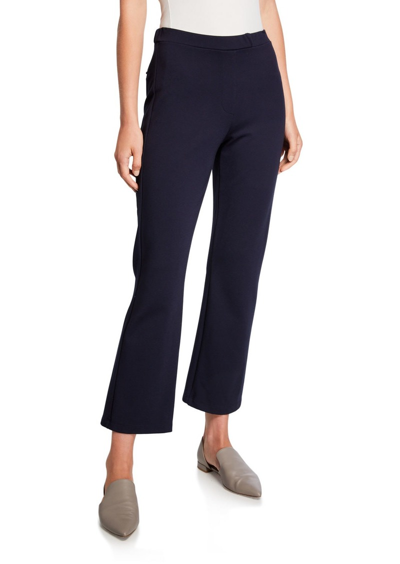 Max Mara Zip-Front Jersey Flare Pants